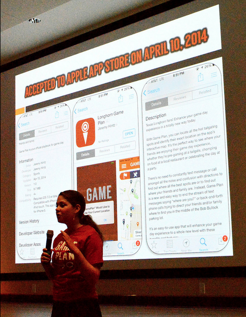 Courtney Ross on Demo Day presenting App Store acceptance